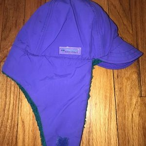 VINTAGE COLUMBIA TRAPPER EARFLAP Small Purple/A7
